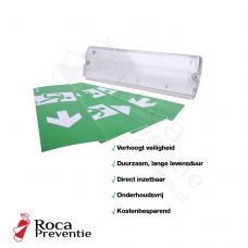Noodverlichting LED Incl. 4 pictogrammen
